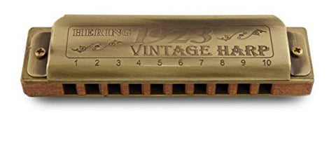 Hering 1020F Diatonic Vintage Harp 1923 Harmonica Brass and Wood Key of F