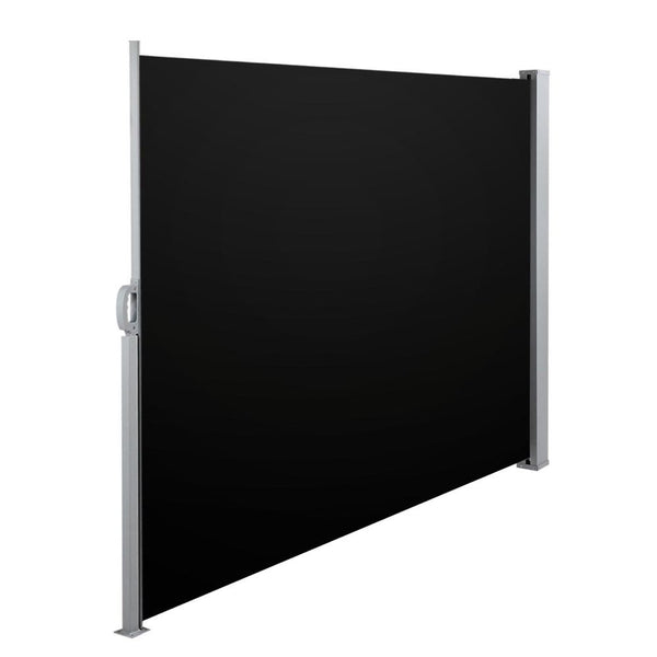 Retractable Side Awning Shade 180cm Black