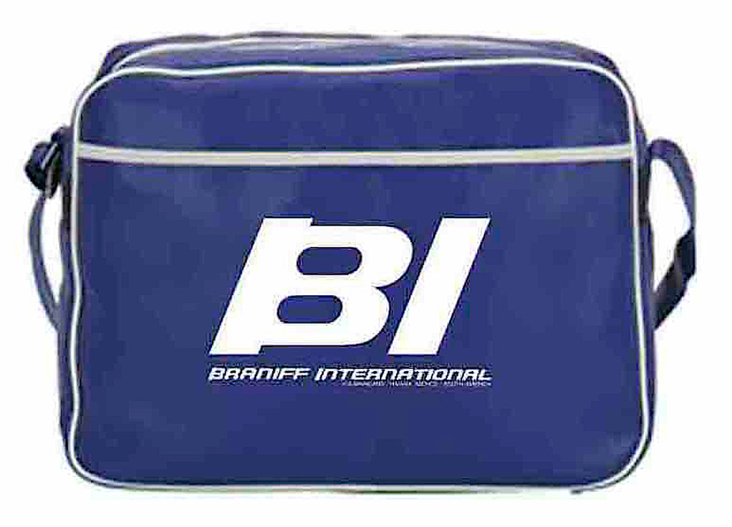 Flight Bag Retro Braniff Alexander Girard Design BI Logo Blue