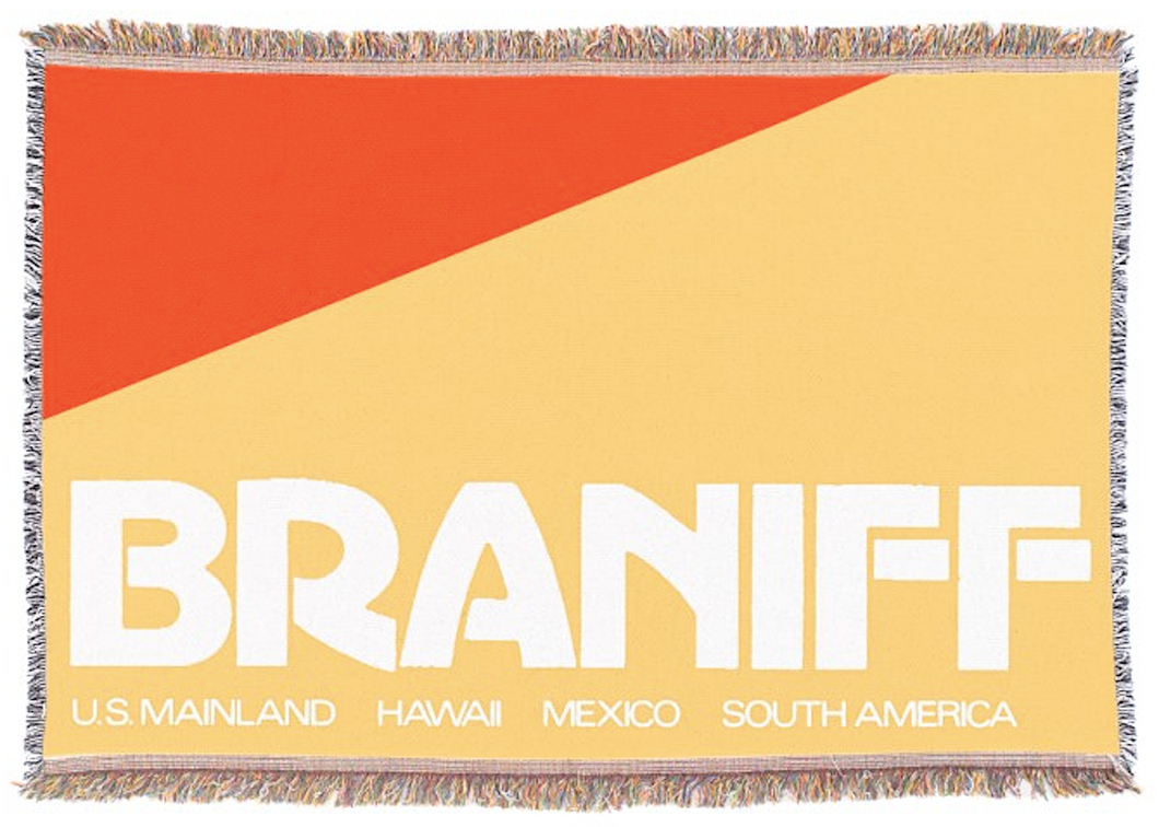 Throw Blanket 727 Braniff Place Two Tone Red
