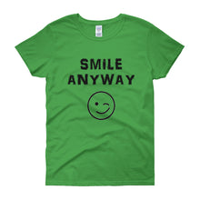 "Load image into Gallery viewer, ""Smile Anyway"" Lady Black"
