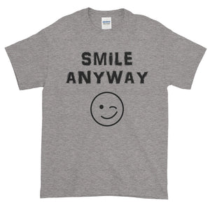 """Smile Anyway"" Black Letter"
