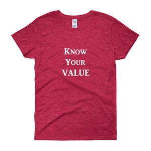 """Know Your Value"" White Letter"