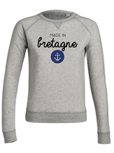 Sweat Made in bretagne ancre #2 gris femme galette complete png