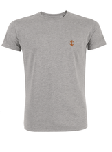 T-Shirt Ancre orange gris homme galette complete png