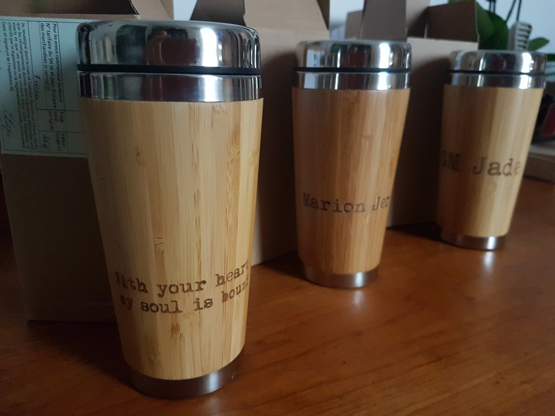 CANNABIS Engraved Wooden Travel Mug Tumbler