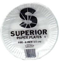 Superior 6 Inch Paper Plates 1000 ct