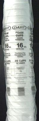 16oz Styrofoam Coffee Cups 1000ct