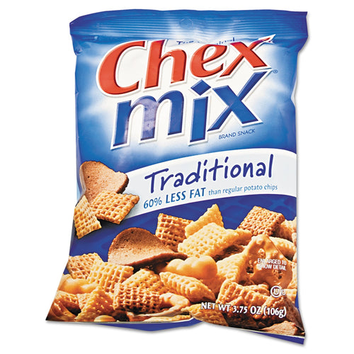 Chex Mix Traditional Flavor Trail Mix 3.75oz Bag 8ct