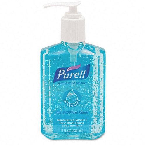 Purell Blue Liquid Ocean Mist Cucumber Melon Instant Hand Sanitizer 8oz Pump Bottle