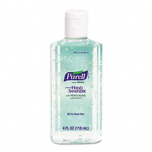 Purell Liquid Instant Hand Sanitizer with Aloe 4oz Flip Cap Bottle