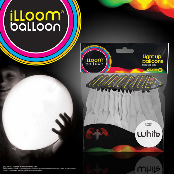 illoom Balloon White 15 Pack