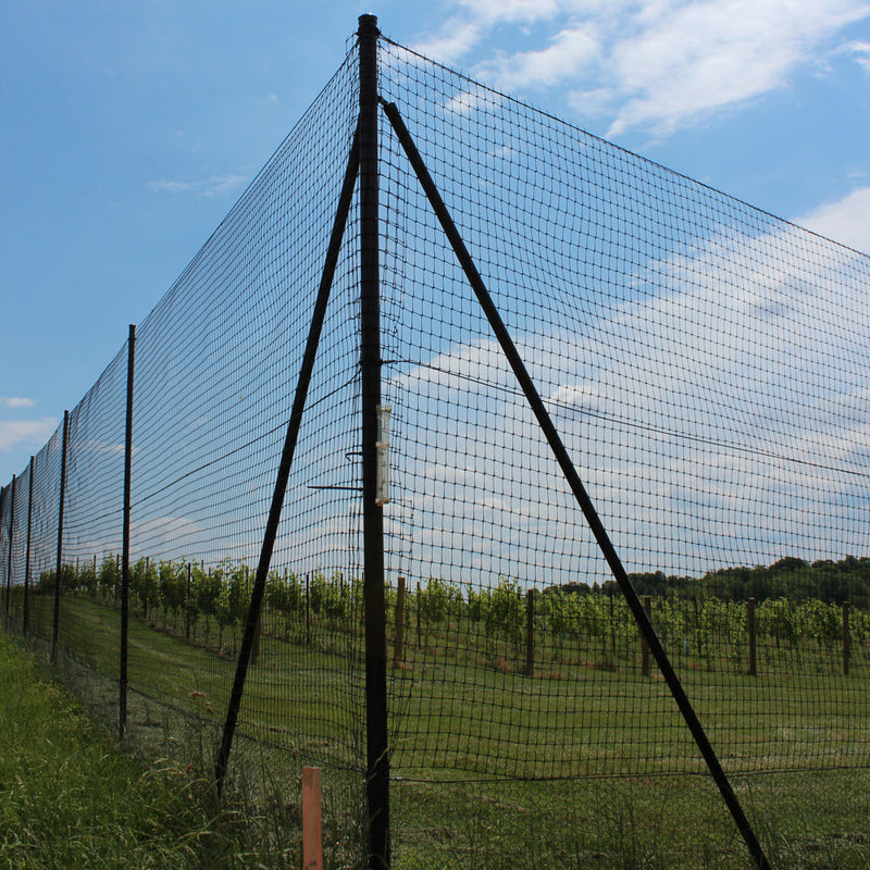 7.5' H Chicken Fence Heavy Corner-2 Pack