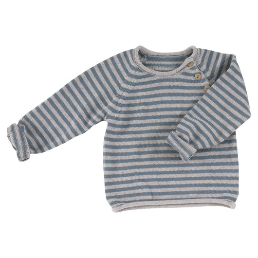 children's soft knitted jumper in organic cotton
