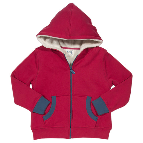 Boys hoody made with organic cotton and recycled fleece