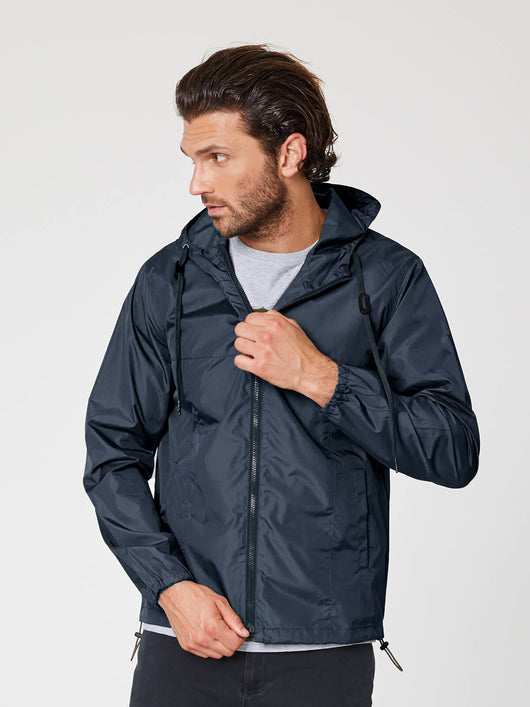 Mens raincoat in recycled pet