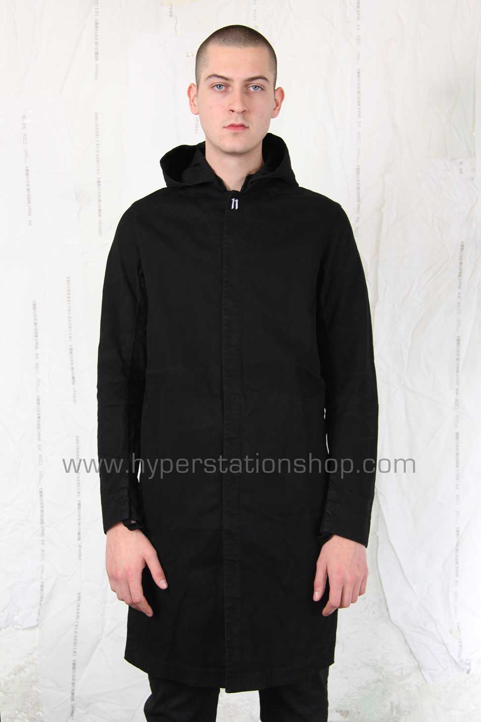 11byBBS Thick And Long Shirt, Black