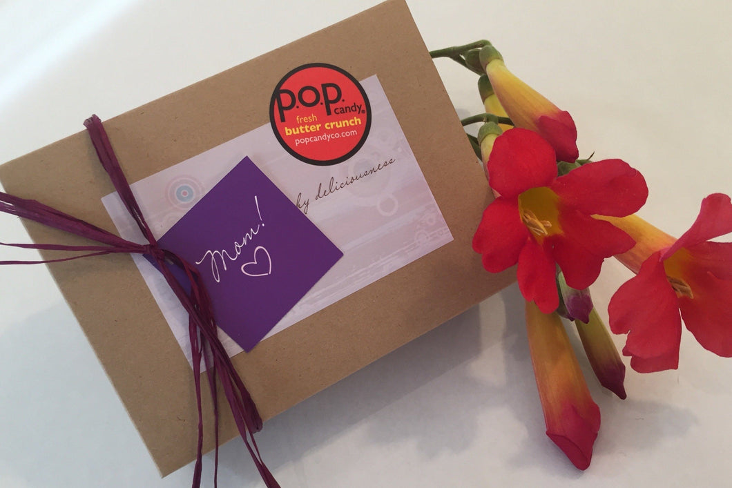 butter crunch gift box | mom's day | p.o.p candy co.