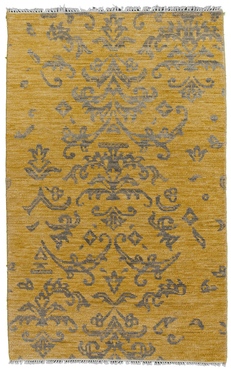 Persian Tabriz - Fish Ivory Runner 2.6 x 11