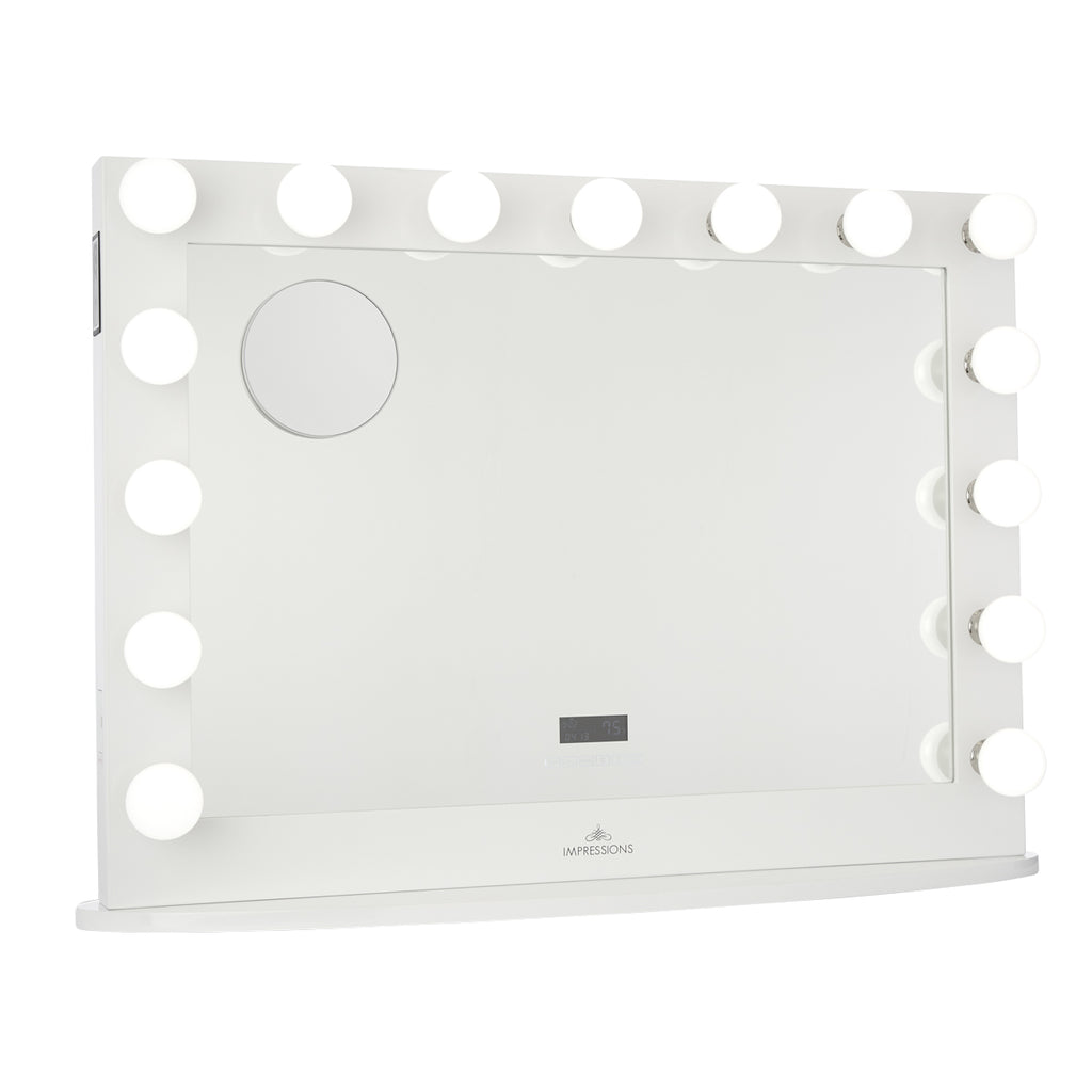 Hollywood Iconic Premiere Pro Vanity Mirror with Bluetooth Speakers