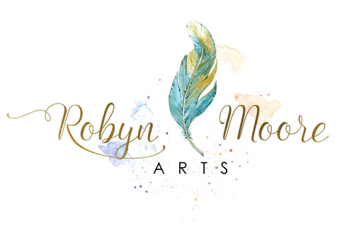 RobynMooreArts.com logo graphic arts business home page