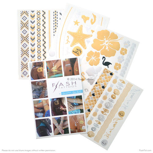 Goldfish Kiss H20 Flash Tattoos