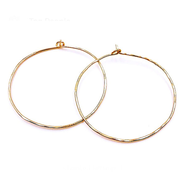 XO Hanalei Simple Gold Hoops
