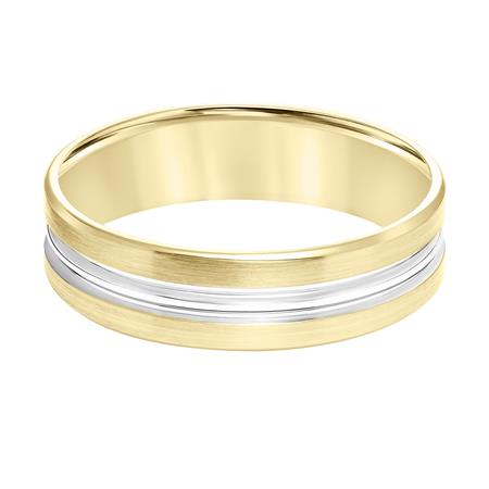 Goldman 14K Yellow Gold 6mm Engraved Wedding Band