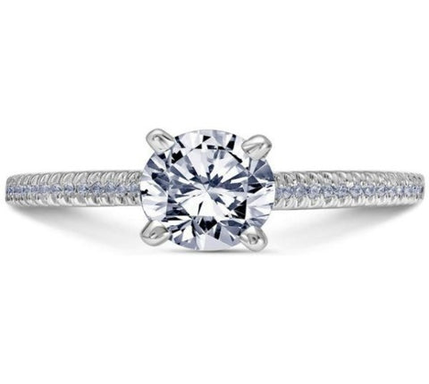 Scott Kay 14k White Gold Pave Engagement Ring