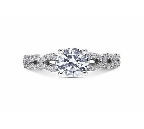 Scott Kay 14k White Gold Namaste Engagement Ring