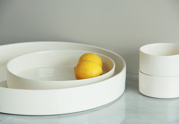 Large, centre piece bowl. Makes a statement. Serves eight to 12 people.