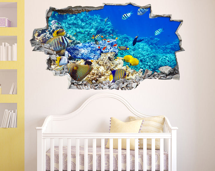 Colourful Cool Fish Nursery Decal Vinyl Wall Sticker A192