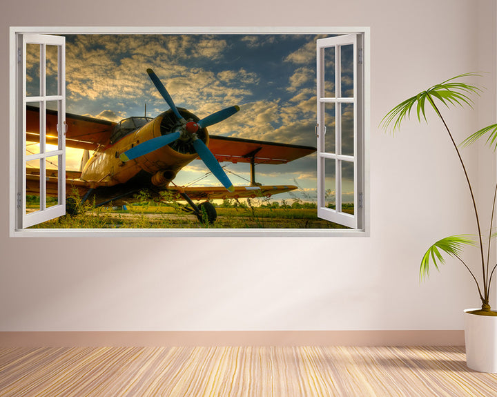 Cool Airplane Sky Living Room Decal Vinyl Wall Sticker H889w