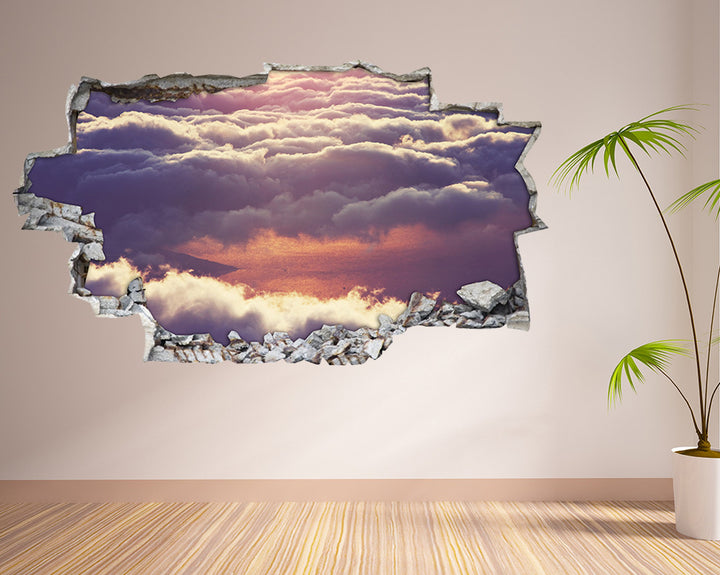 Sky Clouds Hall Decal Vinyl Wall Sticker H914