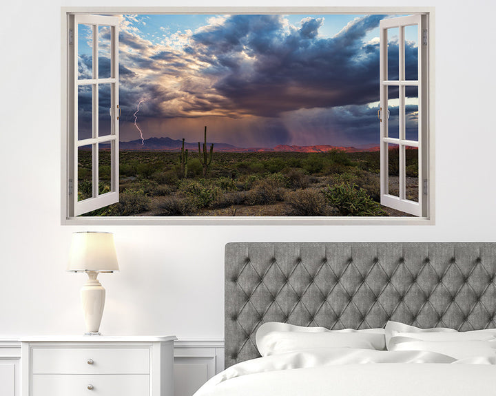Weather Storm Lightning Bedroom Decal Vinyl Wall Sticker H935w