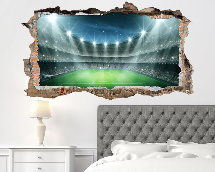 Football Stadium Spotlights Bedroom Decal Vinyl Wall Sticker W135