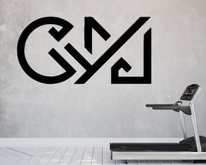Gym Typography Decal Vinyl Wall Sticker
