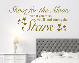 Shoot For The Moon Decal Vinyl Wall Sticker
