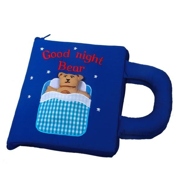 Oskar&Ellen - Interactive Books (Goodnight Book in Blue)-Binky Boppy