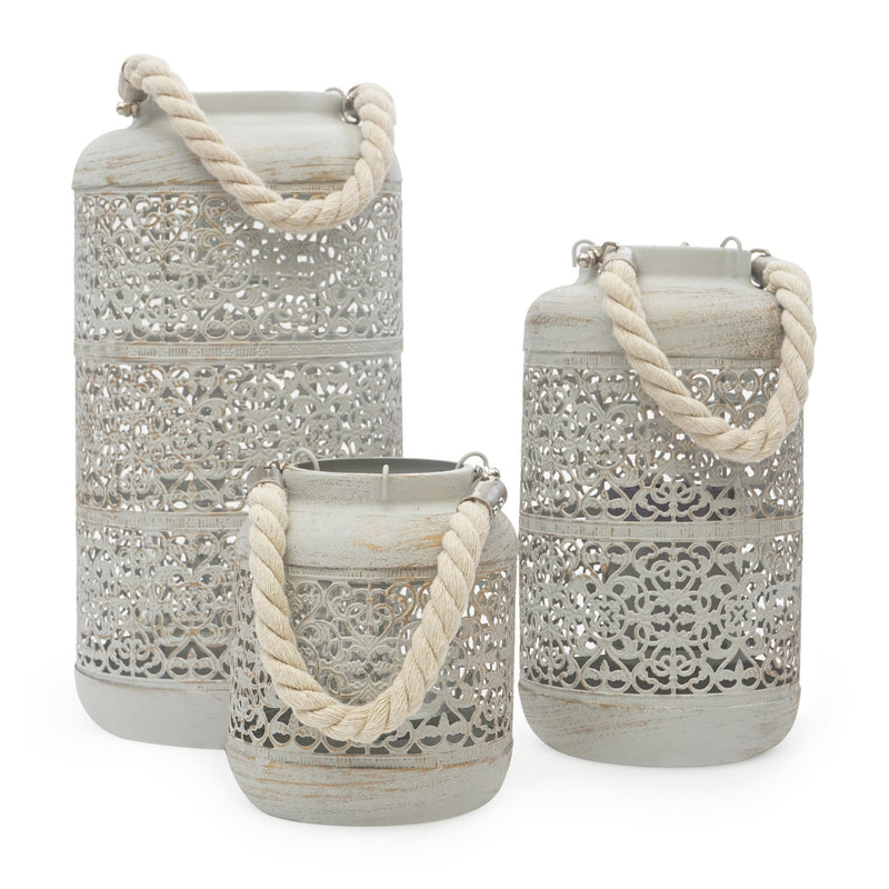 Ceramic lanterns with Rope
