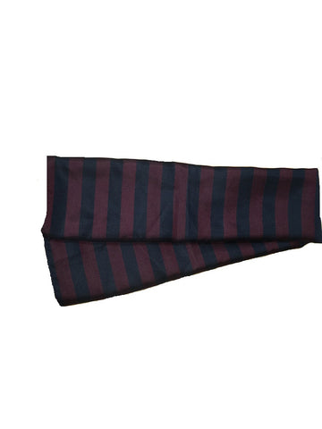 Silk Scarf Square- Navy and Maroon