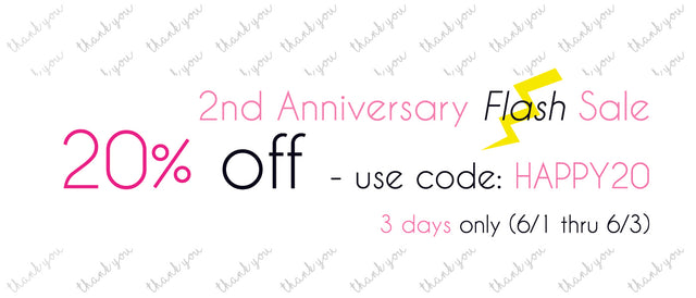 2nd Anniversary❤️FLASH SALE開催!