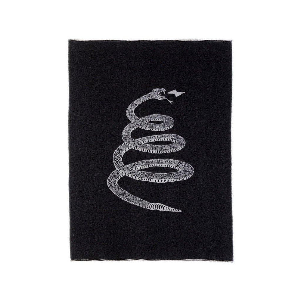 Peyote Reversible Throw Blanket in Ivory/Black by Blacksaw