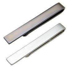Mens Tie Clip Bar Metallic Finish - Firm Hold Sleek Design and Perfect For Skinny Ties