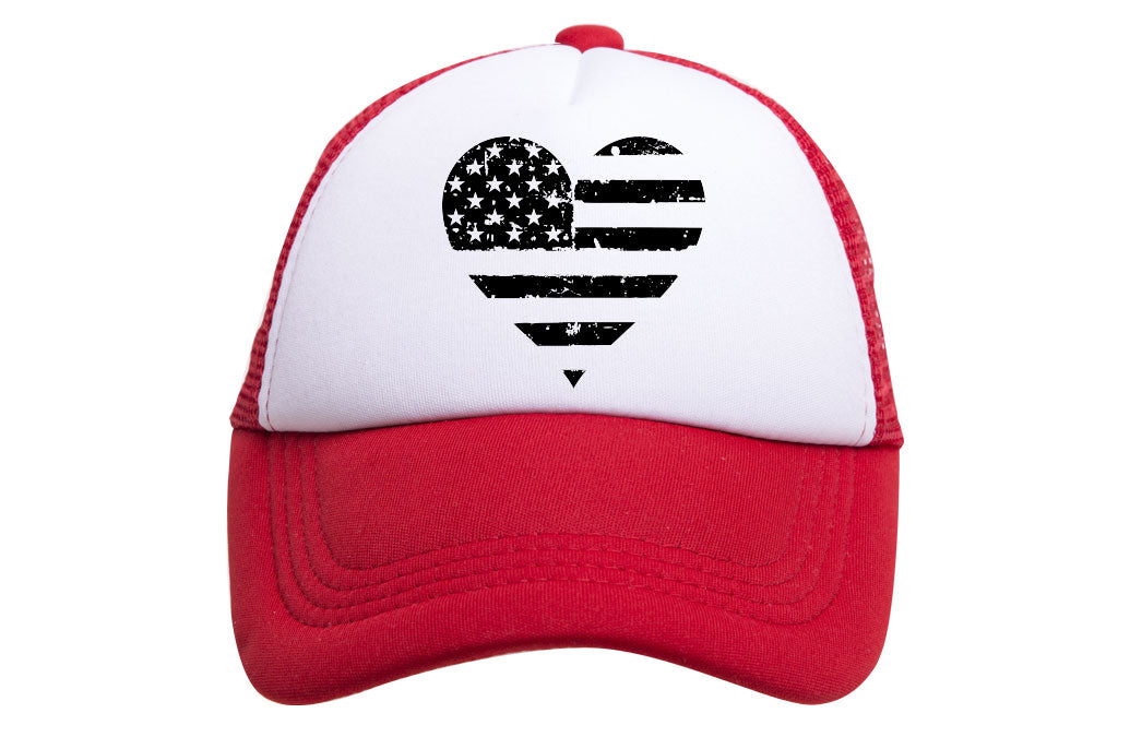 HEART FLAG TRUCKER