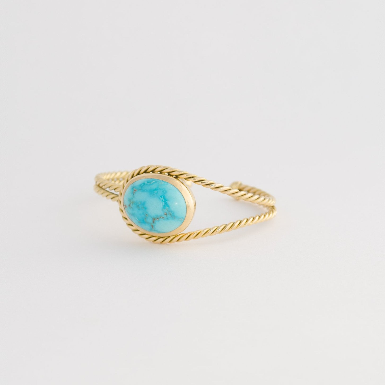 Gold Twisted Cuff & Turquoise