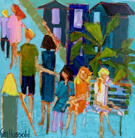 People Watching - 24x24