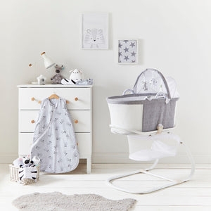 PurAir Breathable Bassinet - Grey Marl