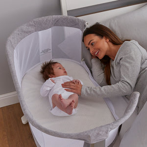PurAir 'Keep Me Close' Breathable Bedside Crib - Marl Grey