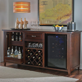 Credenza With Touchscreen Wine Refrigerator